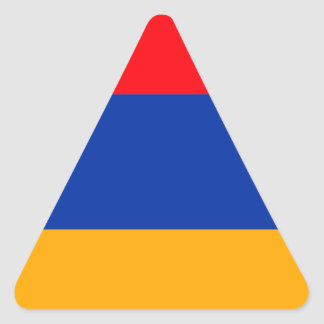 Armenia Flag Triangle Sticker
