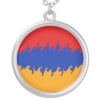 Armenia Gnarly Flag Round Pendant Necklace