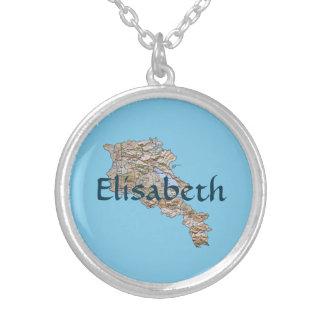 Armenia Map + Name Necklace
