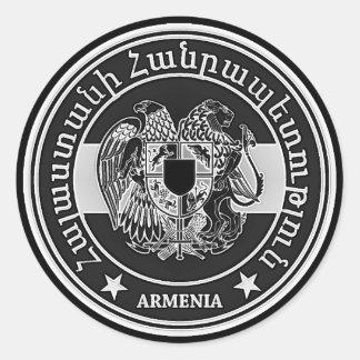 Armenia Round Emblem Classic Round Sticker