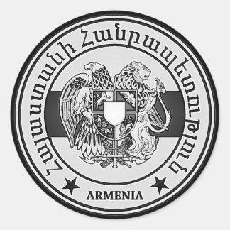 Armenia Round Emblem Round Sticker
