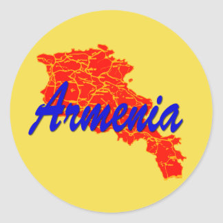 Armenia Round Sticker