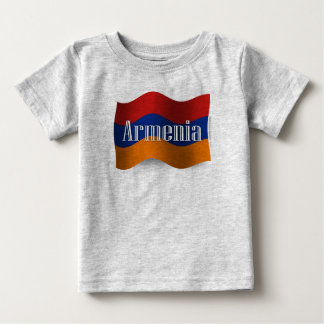 Armenia Waving Flag Baby T-Shirt