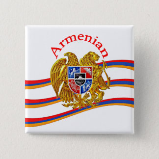 Armenian 2 Inch Square Button
