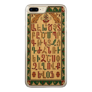 Armenian Alphabet iPhone 7 plusCase on cherry wood Carved iPhone 8 Plus/7 Plus Case