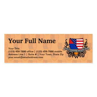 Armenian-American Shield Flag Business Cards