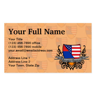 Armenian-American Shield Flag Pack Of Standard Business Cards