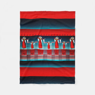 Armenian Dancer Fleece Blanket, Small