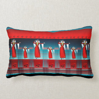 "Armenian Dancer  Lumbar Pillow 13"" x 21"""
