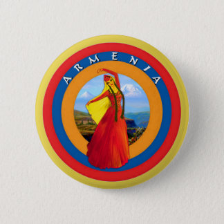 Armenian Dancer Round Button