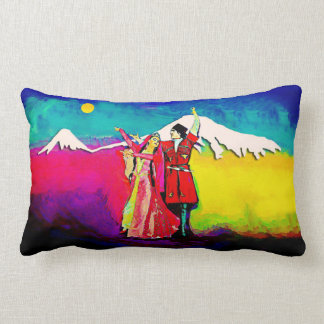 "Armenian Dancers  Lumbar Pillow 13"" x 21"""