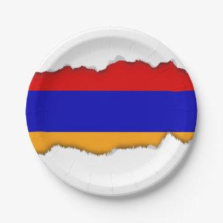 Armenian Flag 7 Inch Paper Plate