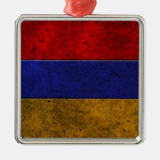 Armenian Flag Aged Steel Effect Christmas Ornaments