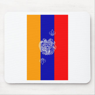 Armenian Flag & Coat of Arms Mouse Pad