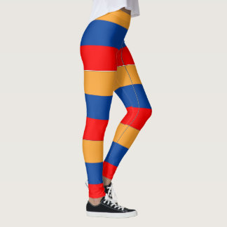 Armenian Flag design pattern leggings