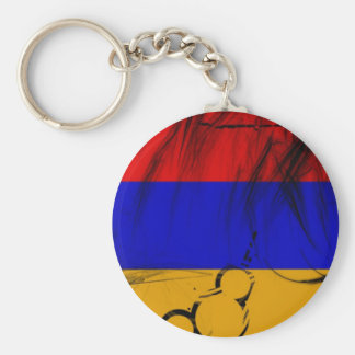 Armenian Flag Key Ring