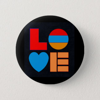 Armenian Flag LOVE Round Button  Եռագույն