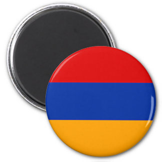 Armenian flag 6 cm round magnet