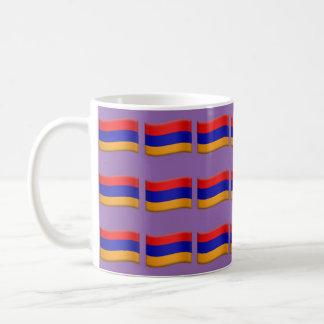 Armenian flag purple backround mug