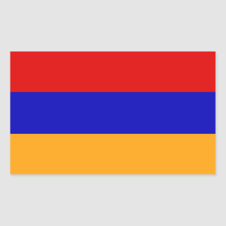 Armenian Flag Rectangular Sticker