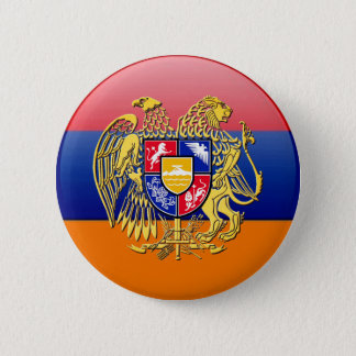 Armenian Flag Round Button  Եռագույն