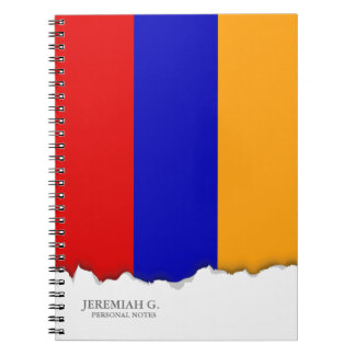 Armenian Flag Spiral Note Books
