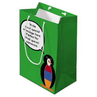 Armenian Flag Talking Penguin Medium Gift Bag