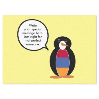 Armenian Flag Talking Penguin Tissue Paper