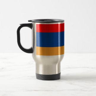 Armenian flag travel mug