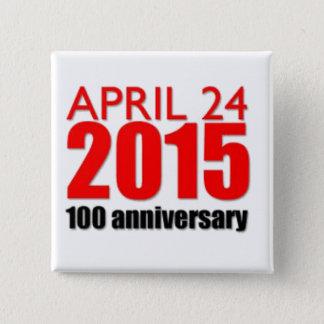 armenian genocide 1915 15 cm square badge