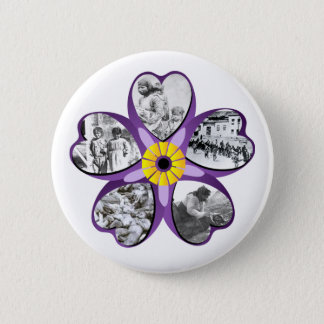 Armenian Genocide Flower Round Button 2