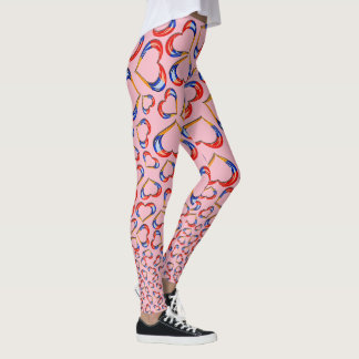 Armenian Heart Flag Leggings Եռագույն