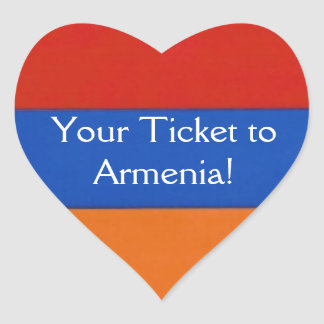 Armenian Heart | Stickers to Seal Envelope