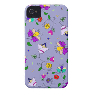 Armenian-inspired Swirling Floral Pattern - Purple iPhone 4 Cover