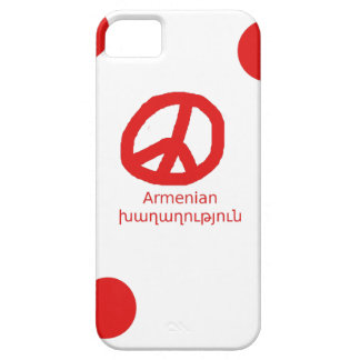 Armenian Language and Peace Symbol Design Barely There iPhone 5 Case