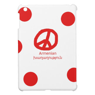 Armenian Language and Peace Symbol Design Case For The iPad Mini