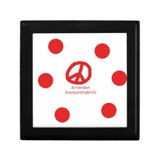 Armenian Language and Peace Symbol Design Gift Box