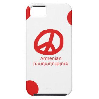 Armenian Language and Peace Symbol Design Tough iPhone 5 Case