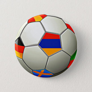 Armenian Soccerr Round Button