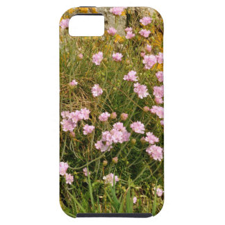 Armeria maritima pink sea growing on a cliff tough iPhone 5 case