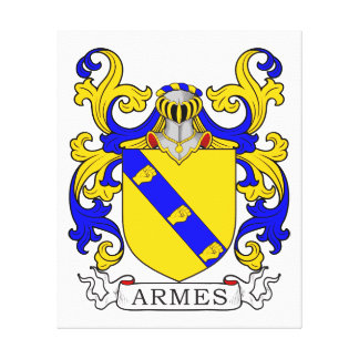 Armes Coat of Arms Gallery Wrap Canvas