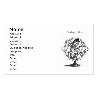 Armillary Sphere Business Card