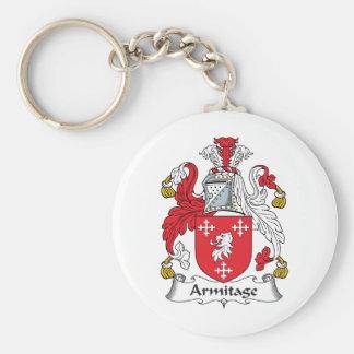 Armitage Family Crest Basic Round Button Key Ring