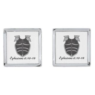 Armor of God Cufflinks Silver Finish Cuff Links