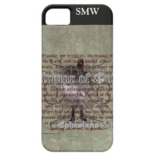 Armor of God, Ephesians 6:10-18, Christian Soldier iPhone 5 Covers