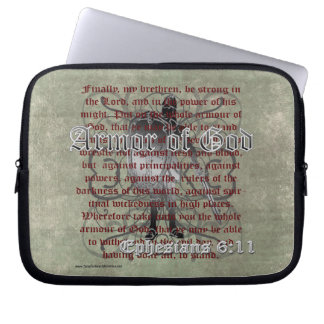 Armor of God, Ephesians 6:10-18, Christian Soldier Computer Sleeve