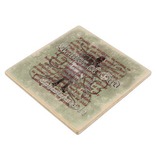 Armor of God, Ephesians 6:10-18, Christian Soldier Wood Coaster