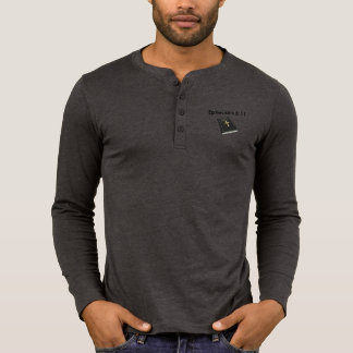 Armor of God Henley Long Sleeve Shirt w/Bible