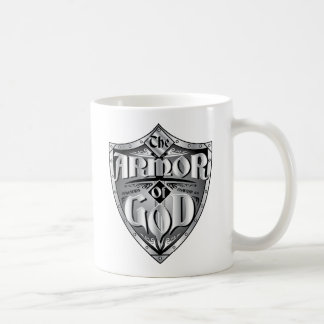ARMOR OF GOD CLASSIC WHITE COFFEE MUG