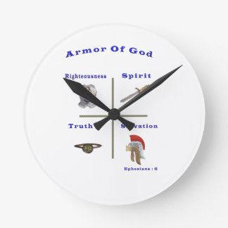 Armor of God products Round Clocks
